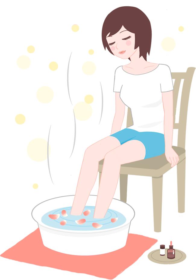 炭酸泉で足湯入浴
